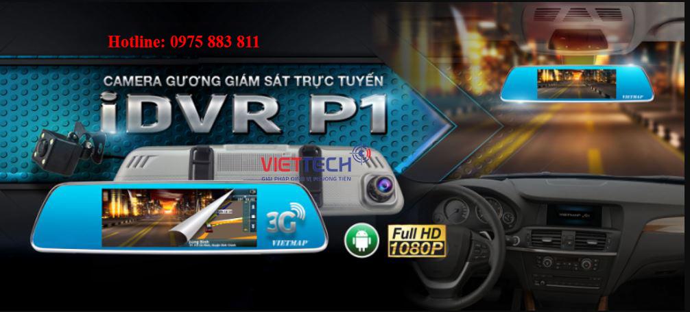 Camera hành trình IDVR P1, camera hành trình, camera hành trình dạng gương