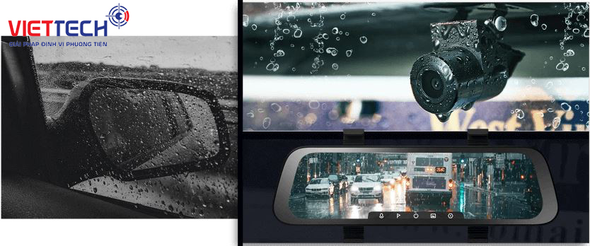 Camera hành trình gương Xiaomi, camera hành trình chống nước, camera phượt chống nước full hd 1080p