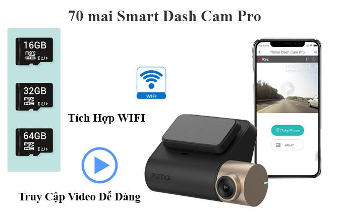 Camera hành trình Xiaomi 70mai Lite, camera hành trình tích hợp wifi, camera hành trình xiaomi