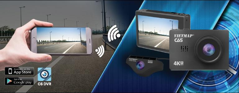 camera hành trình vietmap wifi, camera hành trình wifi ô tô vietmap c65