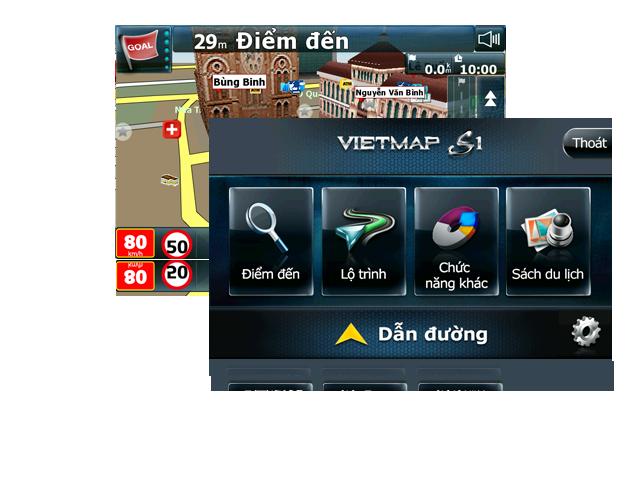 vietmap g79, camera hành trình kiêm dẫn đường