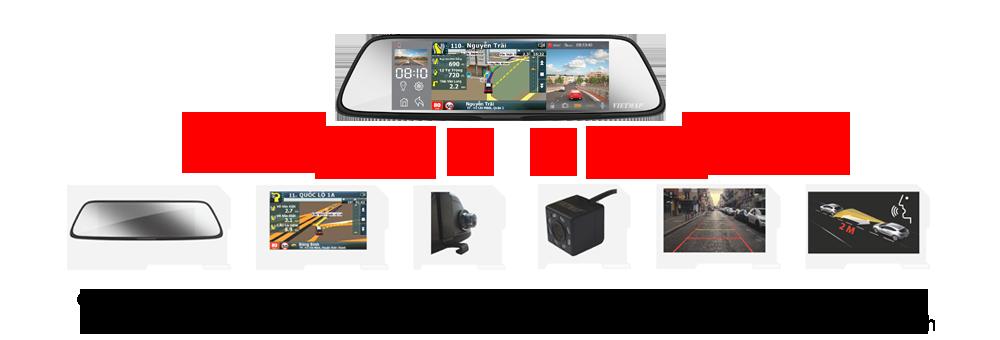 vietmap g79, camera hành trình trước sau, camera hành trình dẫn đường vietmap