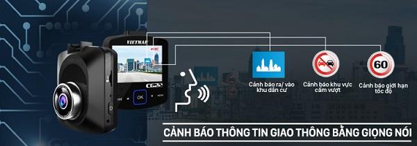 camera hành trình cảnh báo tốc độ, vietmap c62s, camera hành trình có kết nối wifi