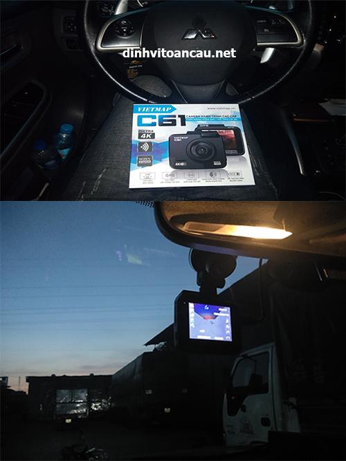 lắp đặt camera hành trình cho khách hàng-viettechgps