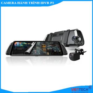 camera hành trình gương idvr p2, camera gương, camera hành trình gương