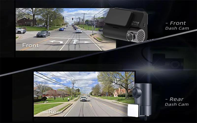 camera hành trình xiaomi ghi hình 4k, xiaomi 70mai A800 4k hai mắt ghi hình