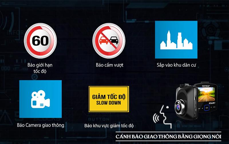camera hành trình vietmap cảnh báo giao thông, camera hành trình ô tô cảnh báo âm thanh