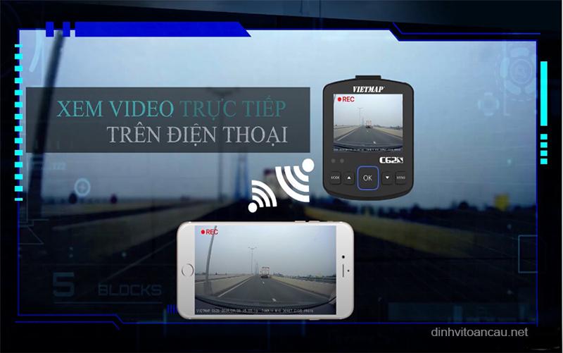 camera hành trình kết nối wifi, camera hành trình vietmap kết nối trực tiếp