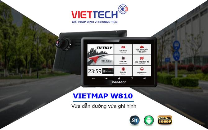camera hành trình dẫn đường w810, thiết bị dẫn đường vietmap
