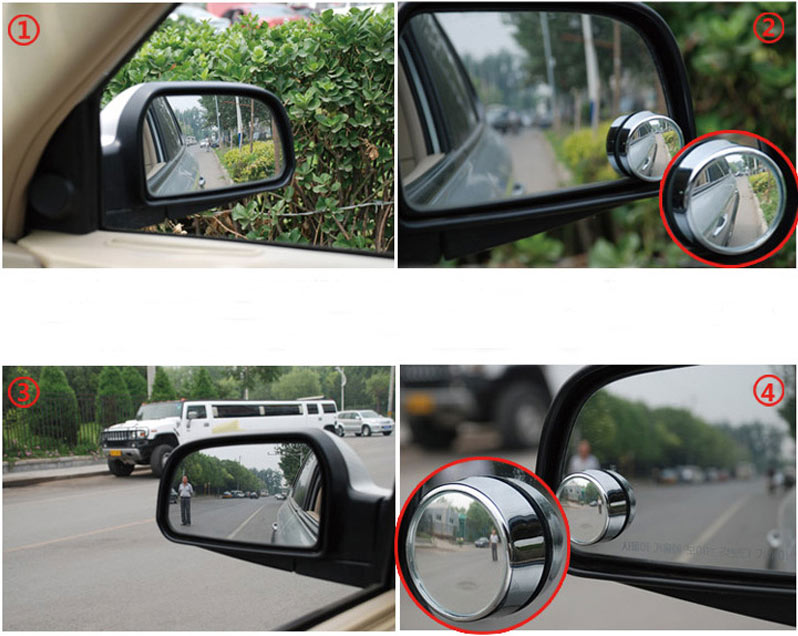 phụ kiện ô tô không thể thiếu, gương cầu lồi điểm mù