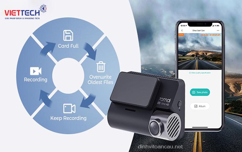 camera hành trình ghi hình vòng lặp, camera hành trình kết nối wifi