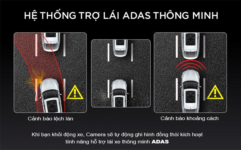 hộ trợ lái xe ADAS thông minh, camera hành trình tích hơp hỗ trợ lái ADAS